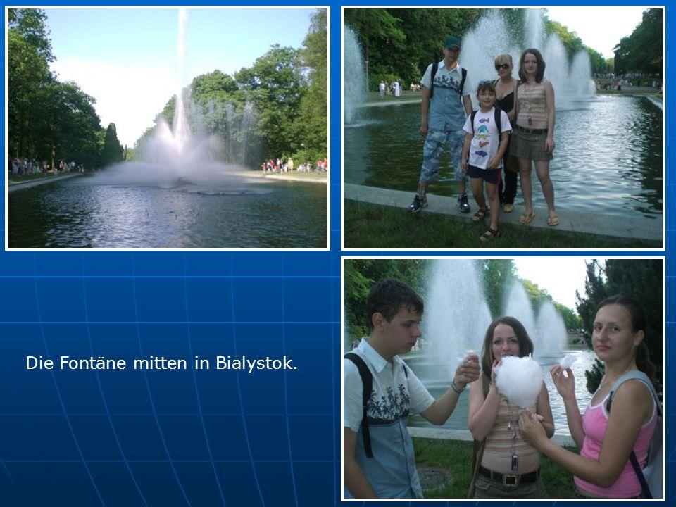 Die Fontäne mitten in Bialystok.