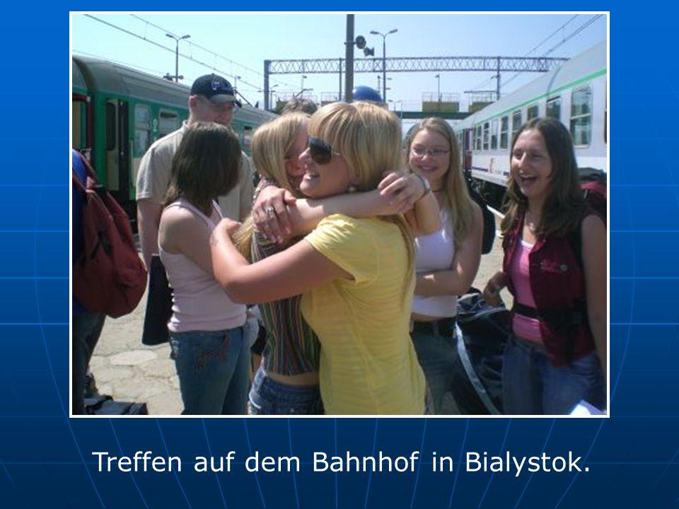 Treffen auf dem Bahnhof in Bialystok.