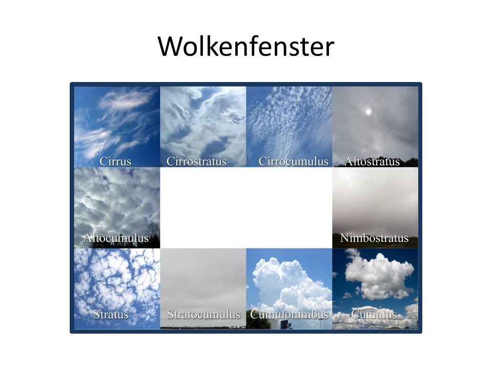 Wir bestimmen Wolken