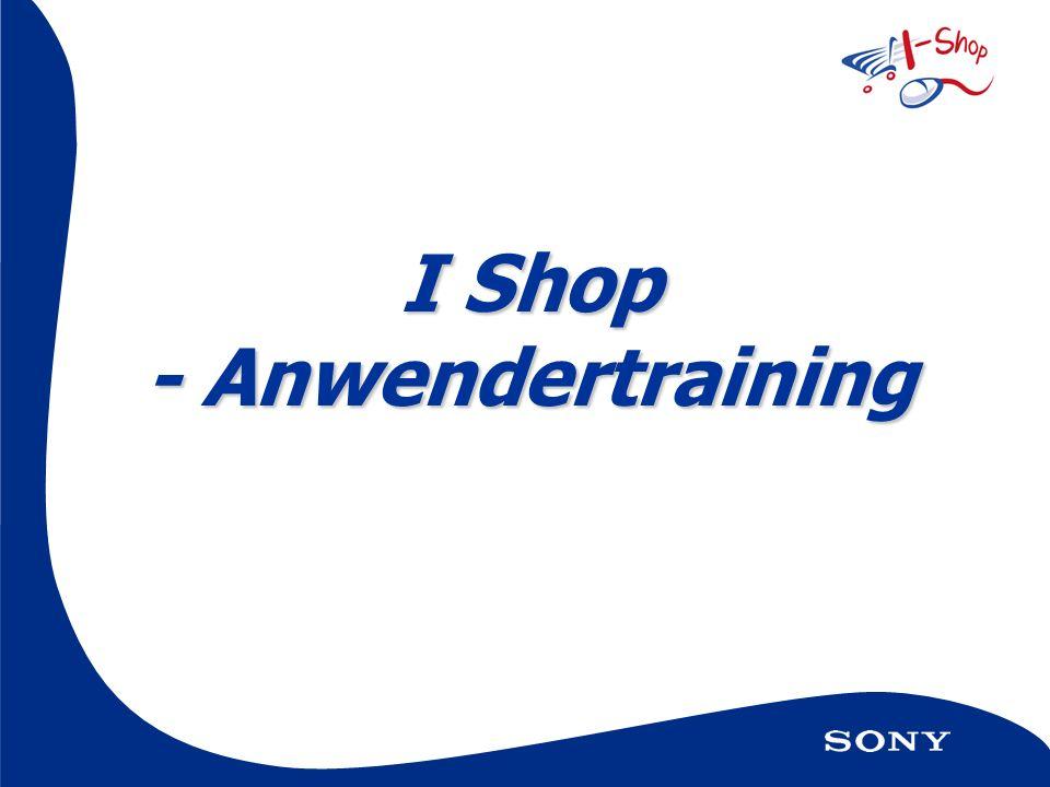 I Shop - Anwendertraining