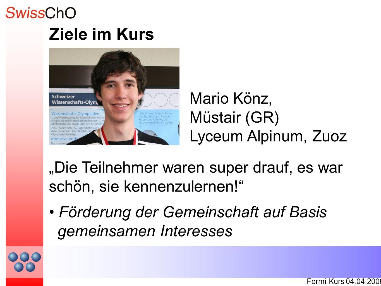 Ziele im Kurs Formi-Kurs 04.04.2008 On a parlé toutes les langues.