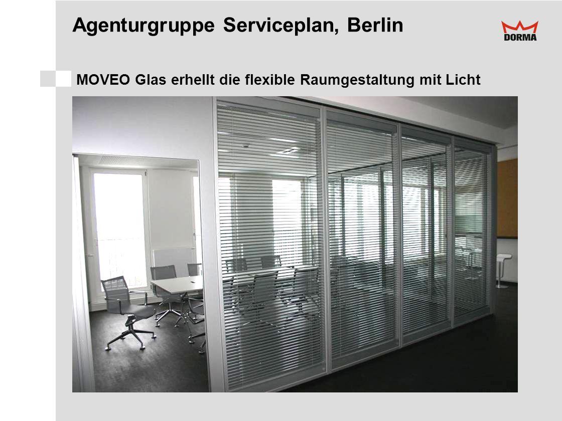 Agenturgruppe Serviceplan, Berlin MOVEO Glas erhellt die flexible Raumgestaltung mit Licht