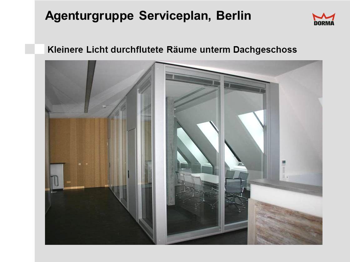 Agenturgruppe Serviceplan, Berlin Kleinere Licht durchflutete Räume unterm Dachgeschoss