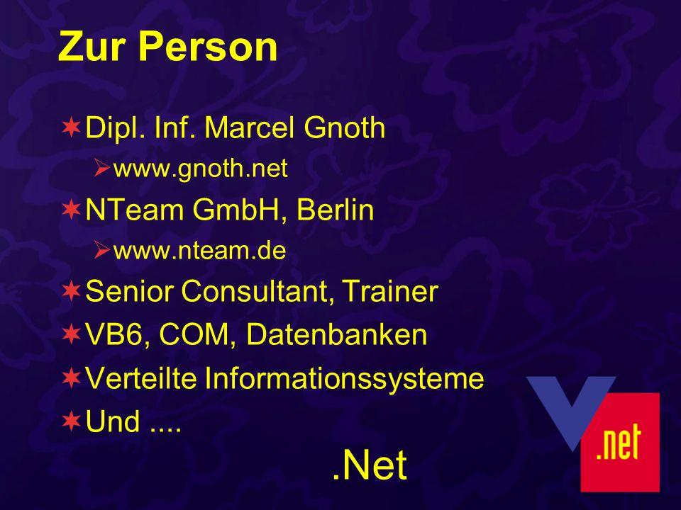 Öffnen mit FormatName Offline Mode Ohne MQIS Schnellste und flexibelste Methode FormatName:Public=5A5F7535-AE9A-41d4-935C-845C2AFF7112 FormatName:DIRECT=SPX:NetworkNumber;HostNumber\QueueName FormatName:DIRECT=TCP:IPAddress\QueueName FormatName:DIRECT=OS:MachineName\QueueName FormatName:DIRECT=OS:MachineName\Private$\QueueName Dim myQueue As New MessageQueue _ ( FormatName:DIRECT=OS:Gengar\private$\Jobs )