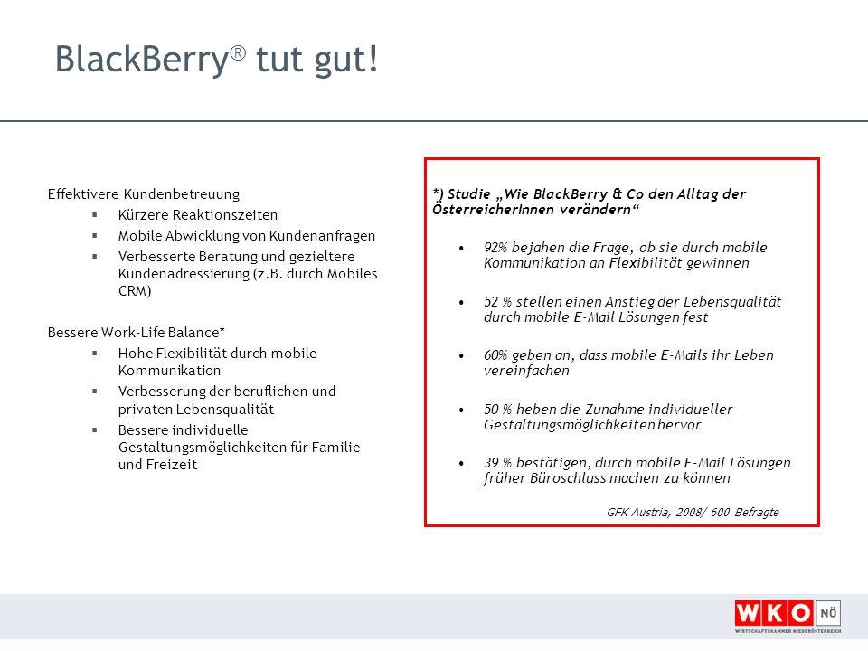 BlackBerry ® tut gut.