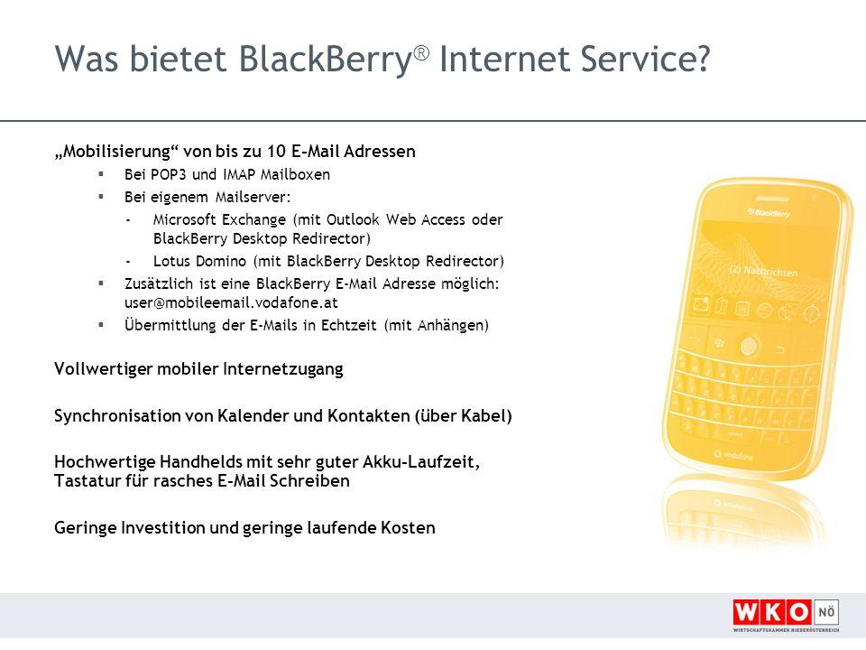 Was bietet BlackBerry ® Internet Service.