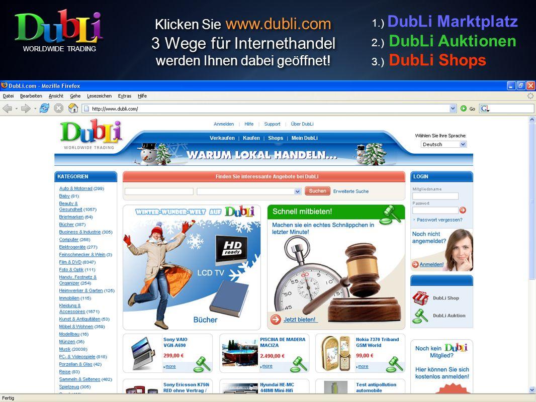 DubLi Shop Individuelle Shop-Möglichkeiten >>> einfachste Handhabung <<< Diese professionelle Shoplösung wird am 1.
