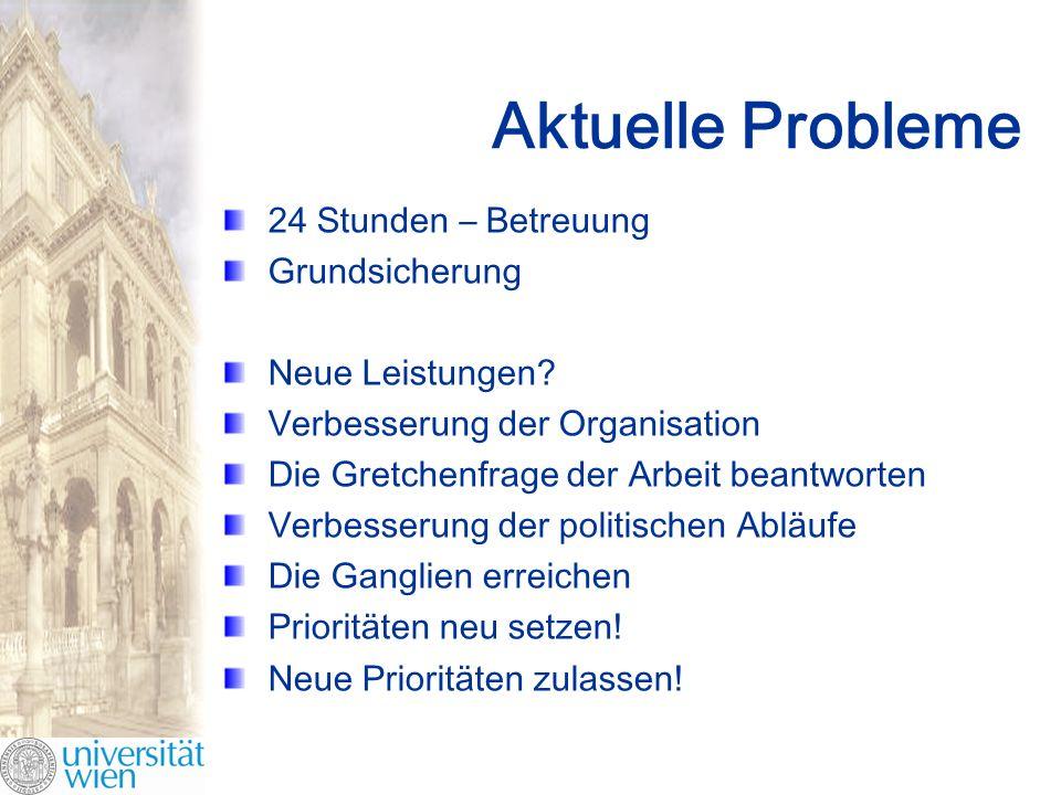 Aktuelle Probleme 24 Stunden – Betreuung Grundsicherung Neue Leistungen.