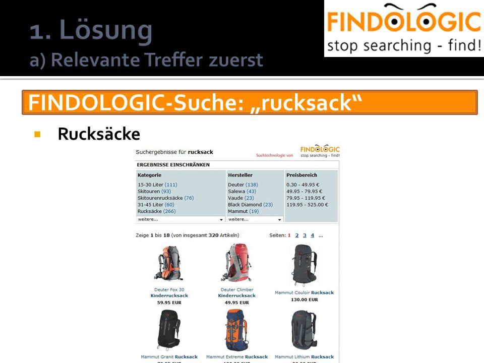 FINDOLOGIC-Suche: rucksack Rucksäcke