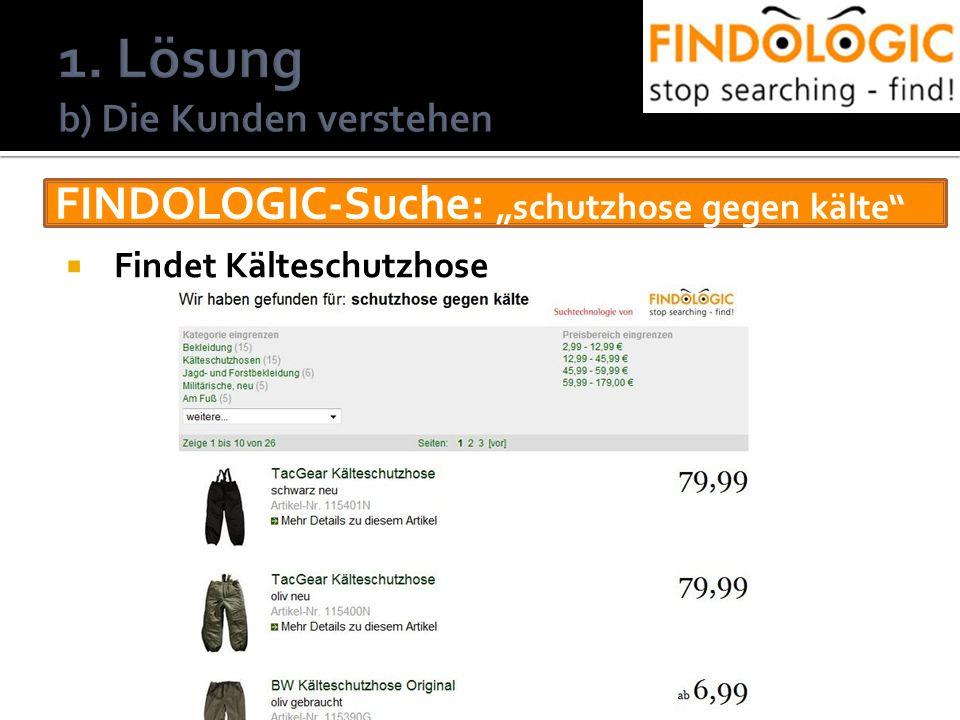 FINDOLOGIC-Suche: schutzhose gegen kälte Findet Kälteschutzhose