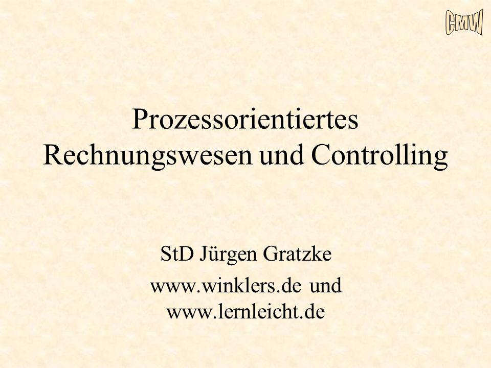 Prozessorientiertes Rechnungswesen und Controlling StD Jürgen Gratzke www.winklers.de und www.lernleicht.de