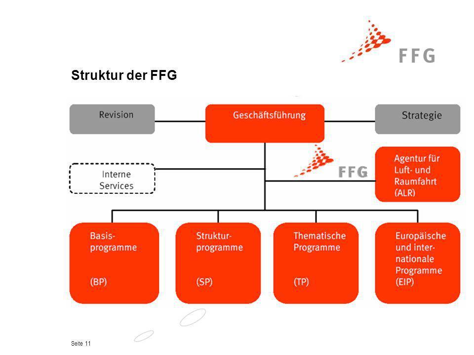 Seite 11 Struktur der FFG