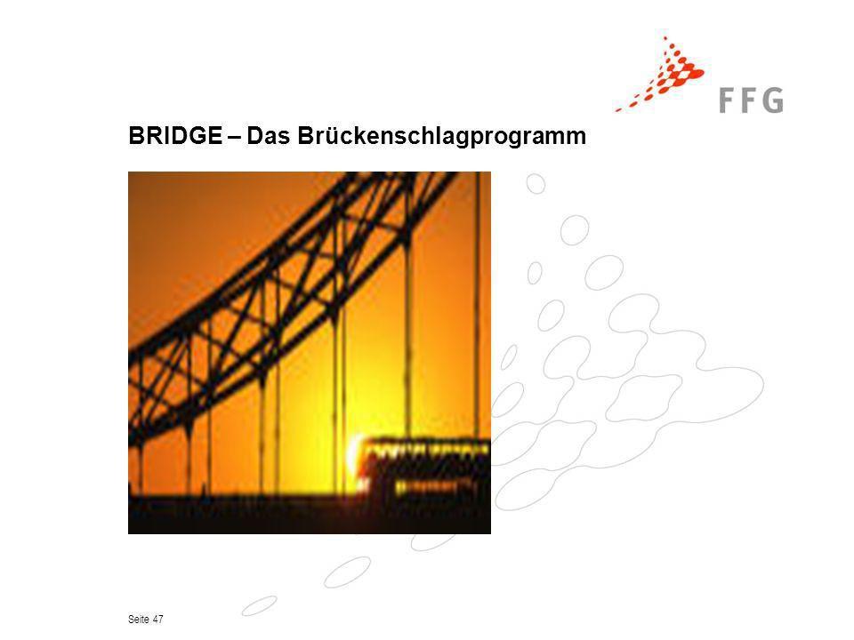 Seite 47 BRIDGE – Das Brückenschlagprogramm