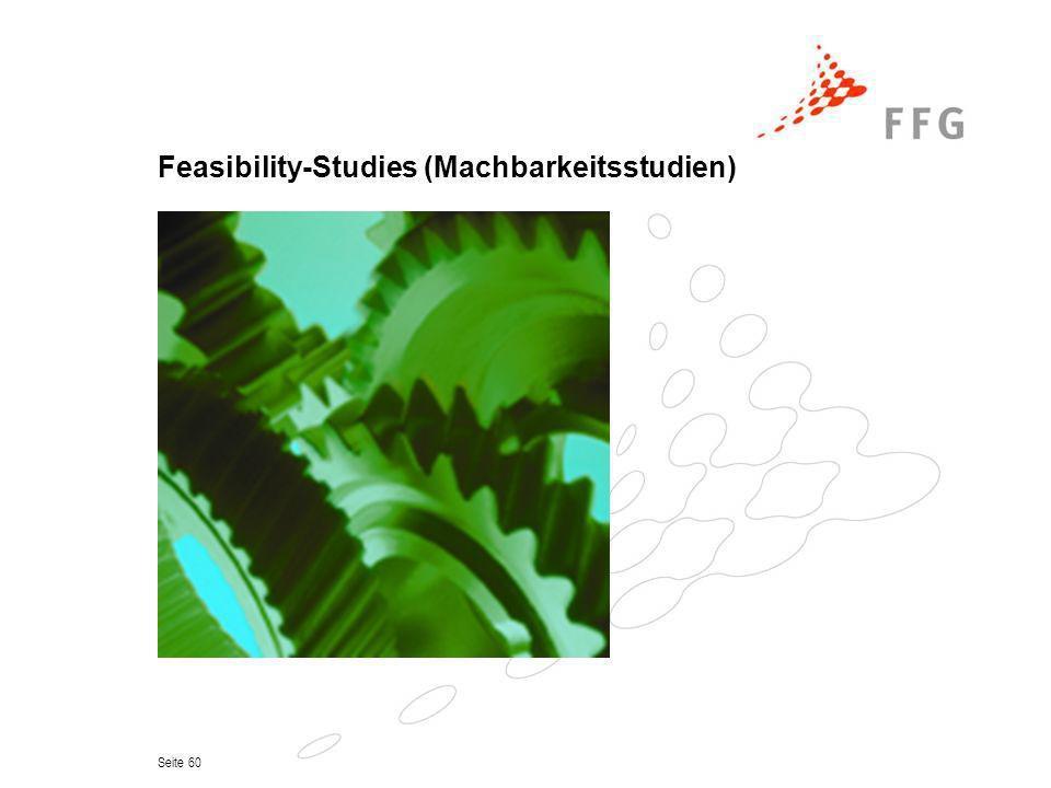 Seite 60 Feasibility-Studies (Machbarkeitsstudien)