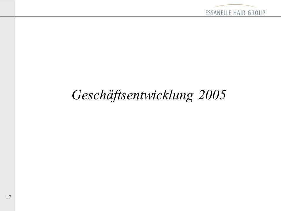 17 Geschäftsentwicklung 2005