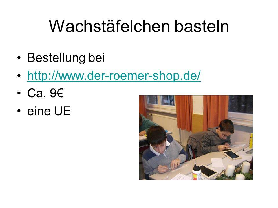 Wachstäfelchen basteln Bestellung bei http://www.der-roemer-shop.de/ Ca. 9 eine UE