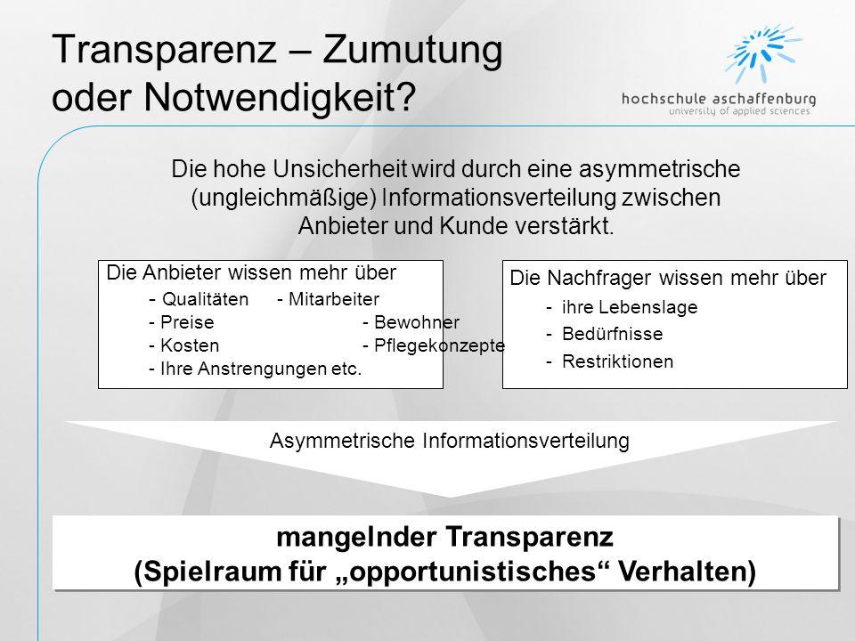 Transparenz – Zumutung oder Notwendigkeit.
