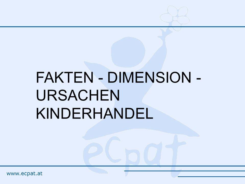 FAKTEN - DIMENSION - URSACHEN KINDERHANDEL