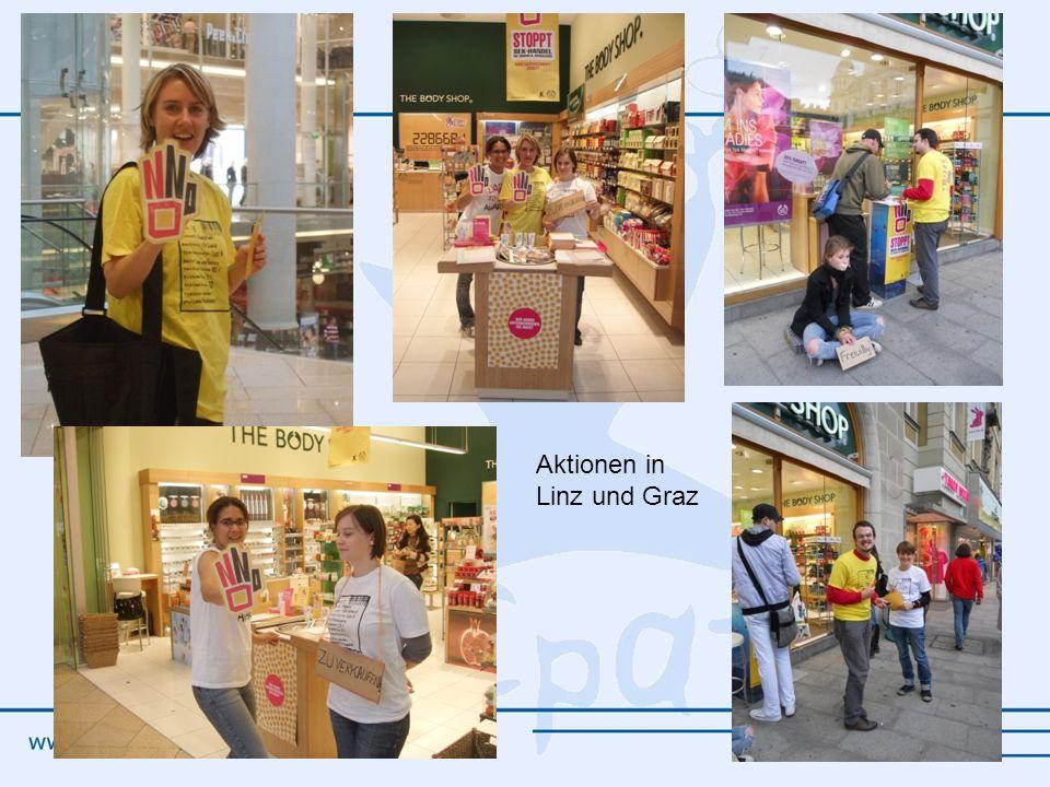 Aktionen in Linz und Graz