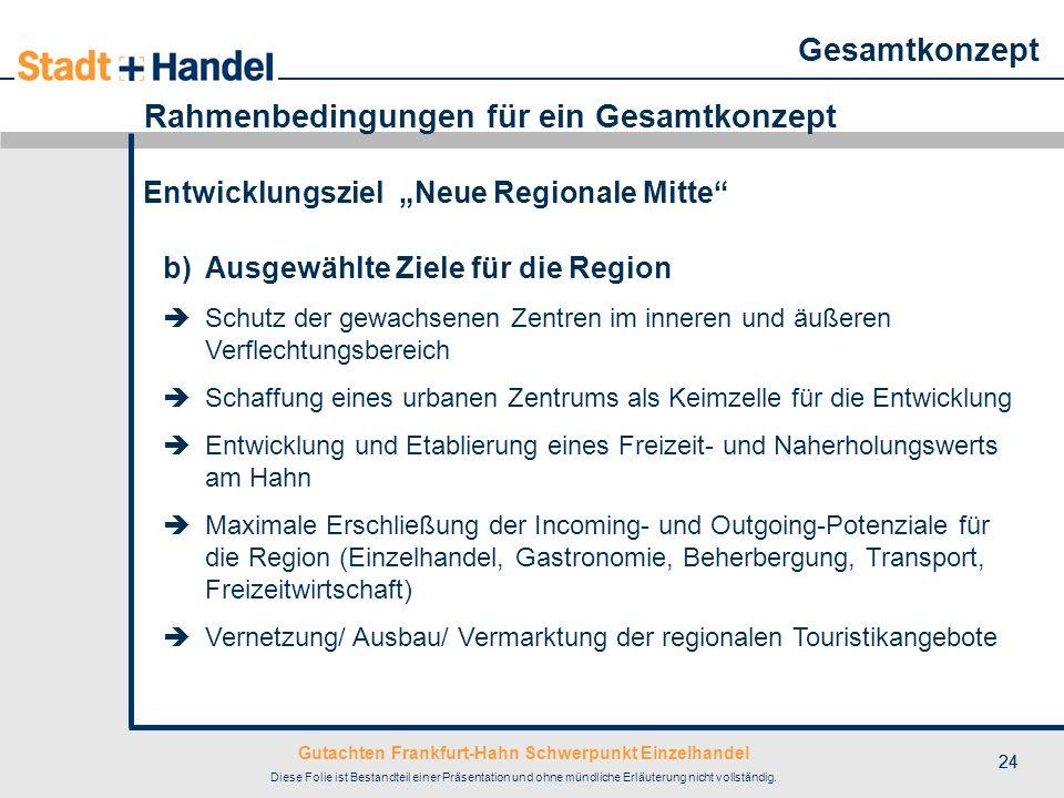 Gutachten Frankfurt-Hahn Schwerpunkt Einzelhandel Diese Folie ist Bestandteil einer Präsentation und ohne mündliche Erläuterung nicht vollständig. 24
