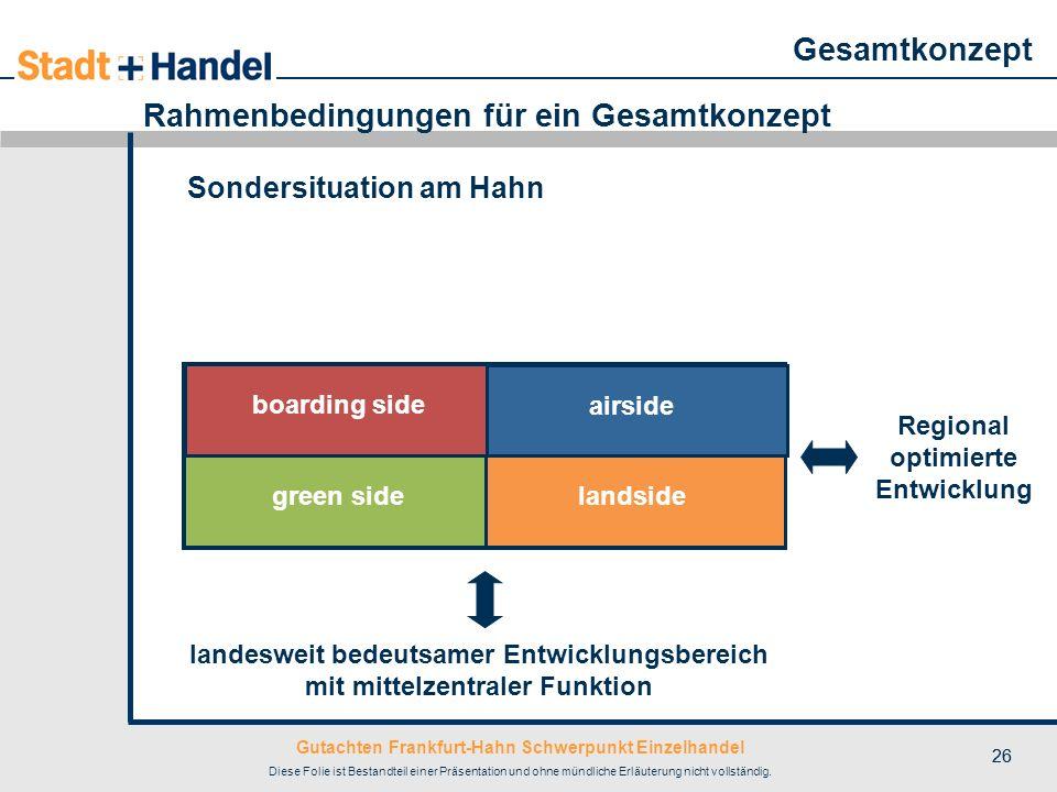 Gutachten Frankfurt-Hahn Schwerpunkt Einzelhandel Diese Folie ist Bestandteil einer Präsentation und ohne mündliche Erläuterung nicht vollständig. 26