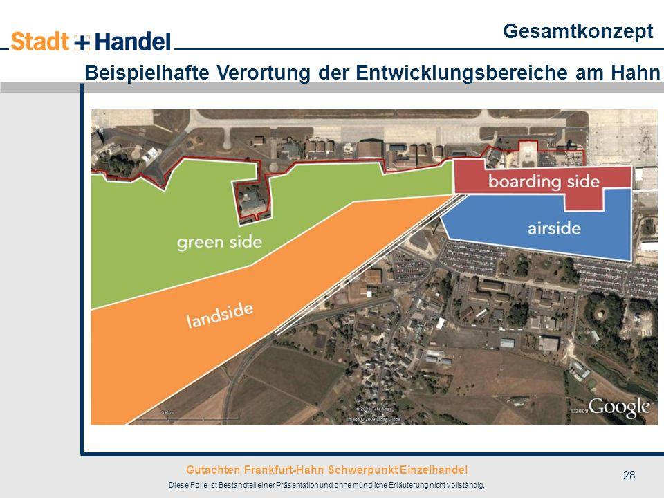 Gutachten Frankfurt-Hahn Schwerpunkt Einzelhandel Diese Folie ist Bestandteil einer Präsentation und ohne mündliche Erläuterung nicht vollständig. 28