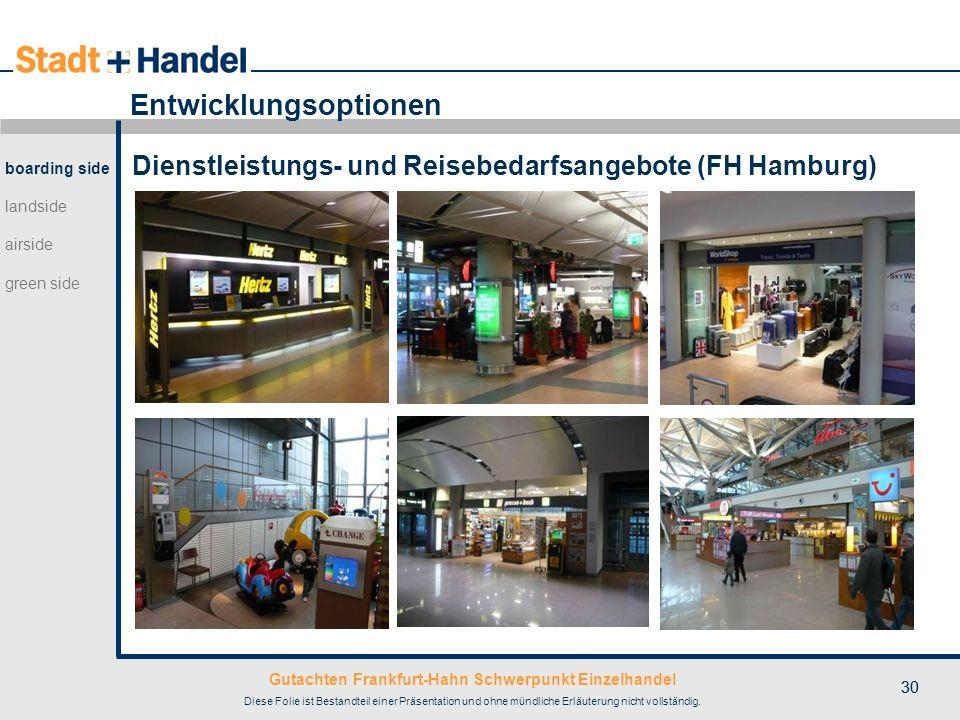 Gutachten Frankfurt-Hahn Schwerpunkt Einzelhandel Diese Folie ist Bestandteil einer Präsentation und ohne mündliche Erläuterung nicht vollständig. 30