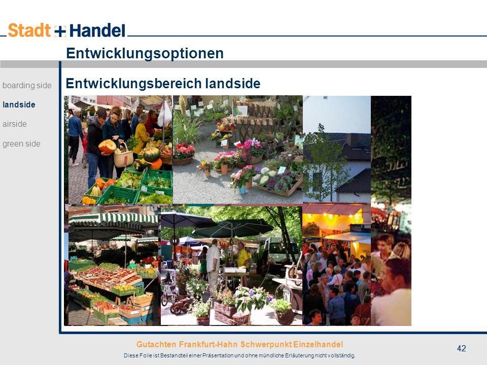 Gutachten Frankfurt-Hahn Schwerpunkt Einzelhandel Diese Folie ist Bestandteil einer Präsentation und ohne mündliche Erläuterung nicht vollständig. 42