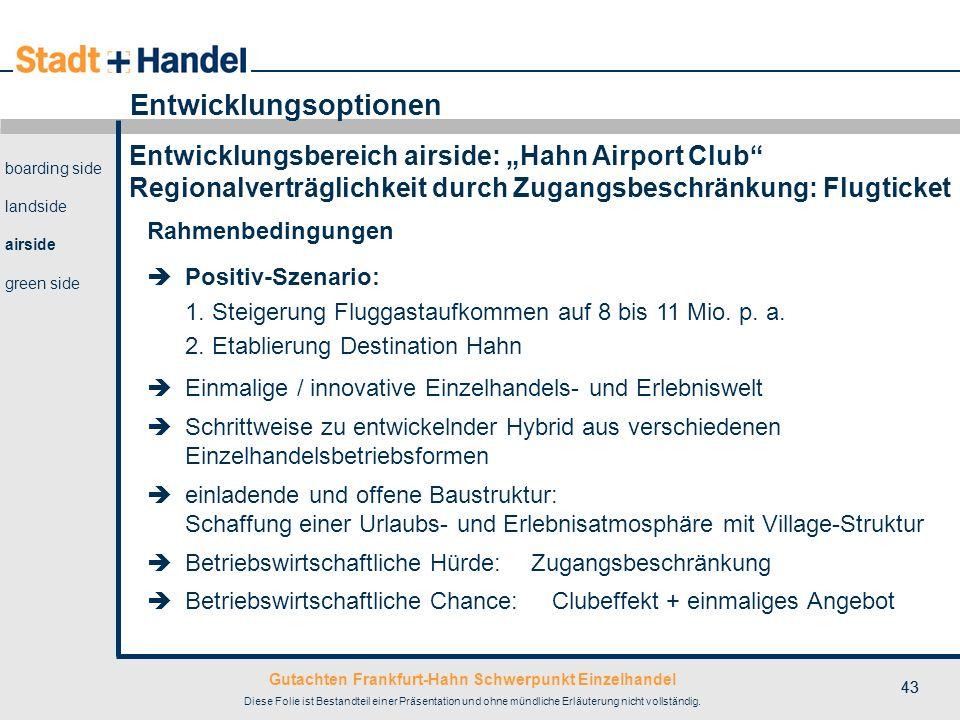 Gutachten Frankfurt-Hahn Schwerpunkt Einzelhandel Diese Folie ist Bestandteil einer Präsentation und ohne mündliche Erläuterung nicht vollständig. 43