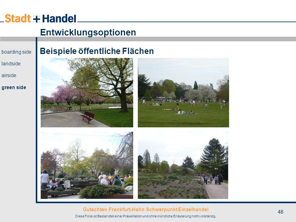 Gutachten Frankfurt-Hahn Schwerpunkt Einzelhandel Diese Folie ist Bestandteil einer Präsentation und ohne mündliche Erläuterung nicht vollständig. 48