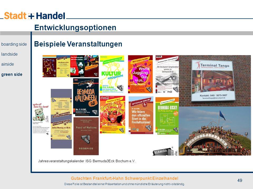 Gutachten Frankfurt-Hahn Schwerpunkt Einzelhandel Diese Folie ist Bestandteil einer Präsentation und ohne mündliche Erläuterung nicht vollständig. 49