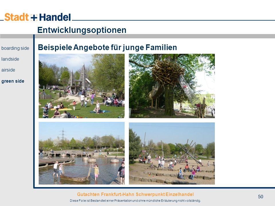 Gutachten Frankfurt-Hahn Schwerpunkt Einzelhandel Diese Folie ist Bestandteil einer Präsentation und ohne mündliche Erläuterung nicht vollständig. 50