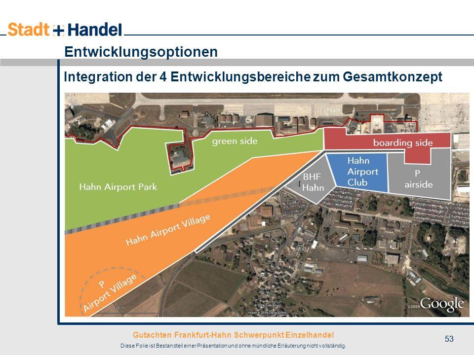 Gutachten Frankfurt-Hahn Schwerpunkt Einzelhandel Diese Folie ist Bestandteil einer Präsentation und ohne mündliche Erläuterung nicht vollständig. 53