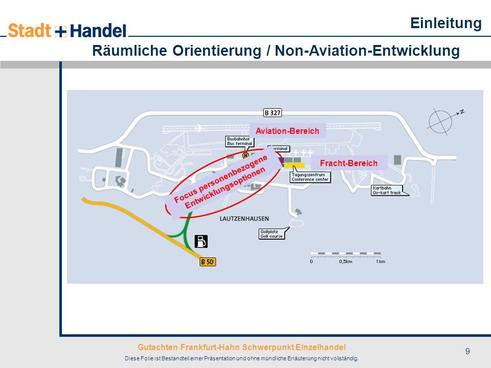 Gutachten Frankfurt-Hahn Schwerpunkt Einzelhandel Diese Folie ist Bestandteil einer Präsentation und ohne mündliche Erläuterung nicht vollständig. 9 R