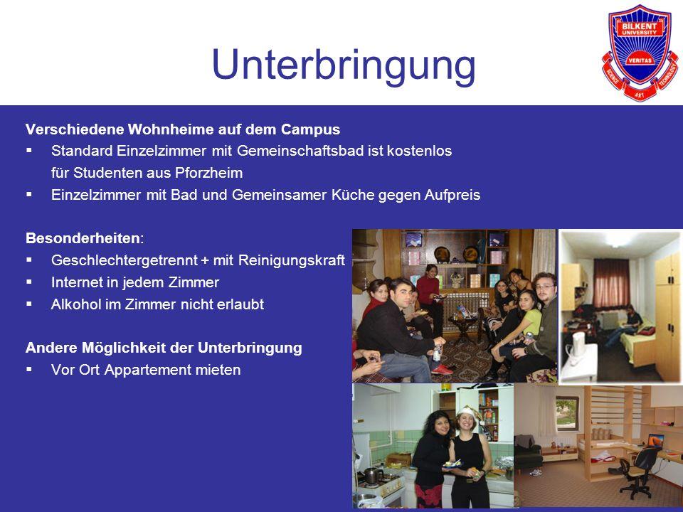 11 Unterbringung Verschiedene Wohnheime auf dem Campus Standard Einzelzimmer mit Gemeinschaftsbad ist kostenlos für Studenten aus Pforzheim Einzelzimm