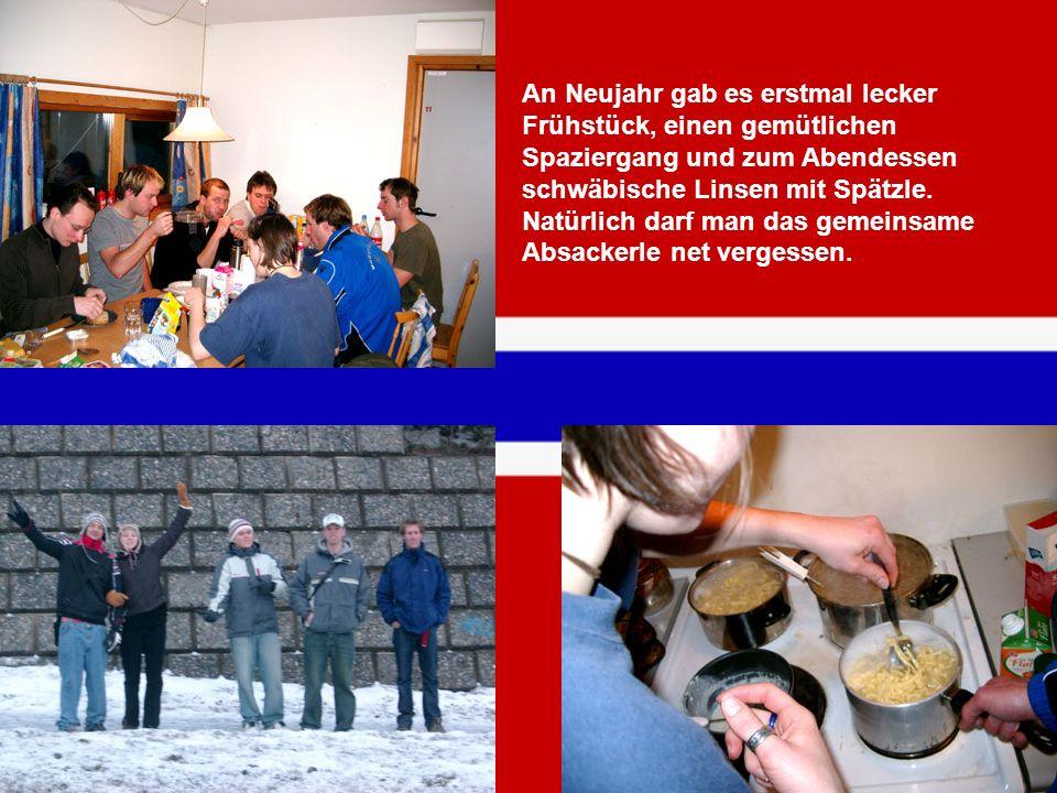 An Neujahr gab es erstmal lecker Frühstück, einen gemütlichen Spaziergang und zum Abendessen schwäbische Linsen mit Spätzle. Natürlich darf man das ge