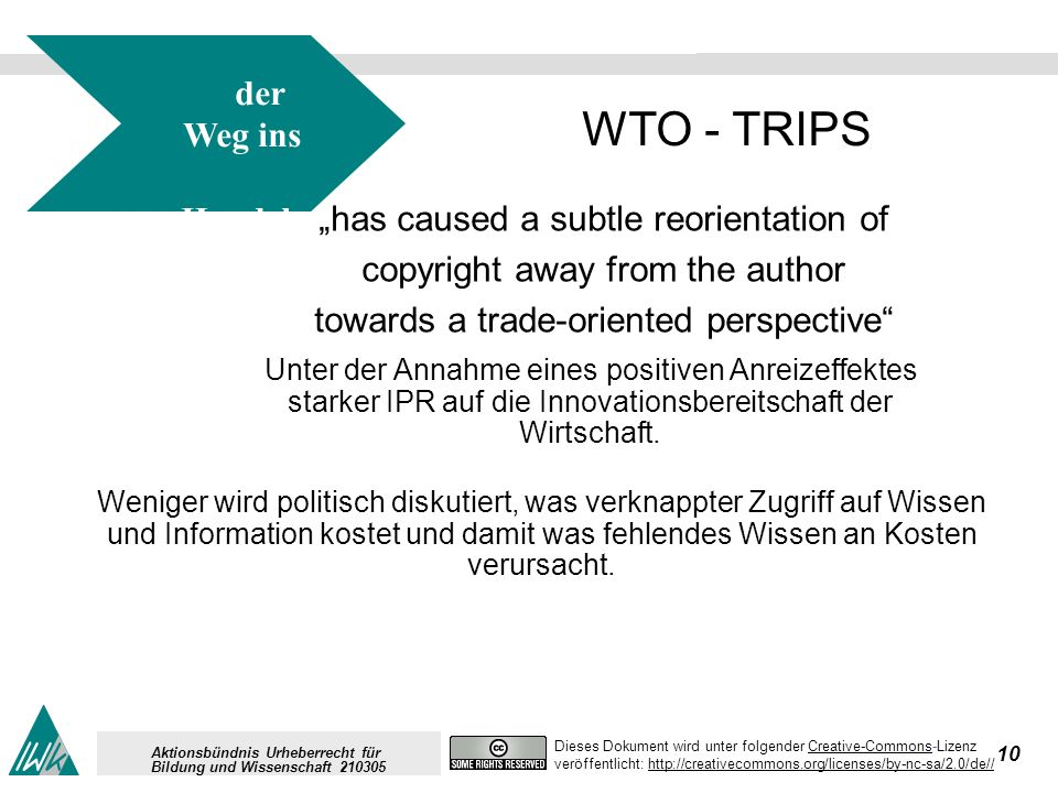 10 Dieses Dokument wird unter folgender Creative-Commons-LizenzCreative-Commons veröffentlicht: http://creativecommons.org/licenses/by-nc-sa/2.0/de//h