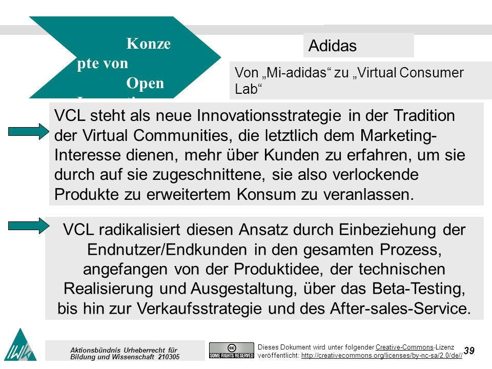 39 Dieses Dokument wird unter folgender Creative-Commons-LizenzCreative-Commons veröffentlicht: http://creativecommons.org/licenses/by-nc-sa/2.0/de//h
