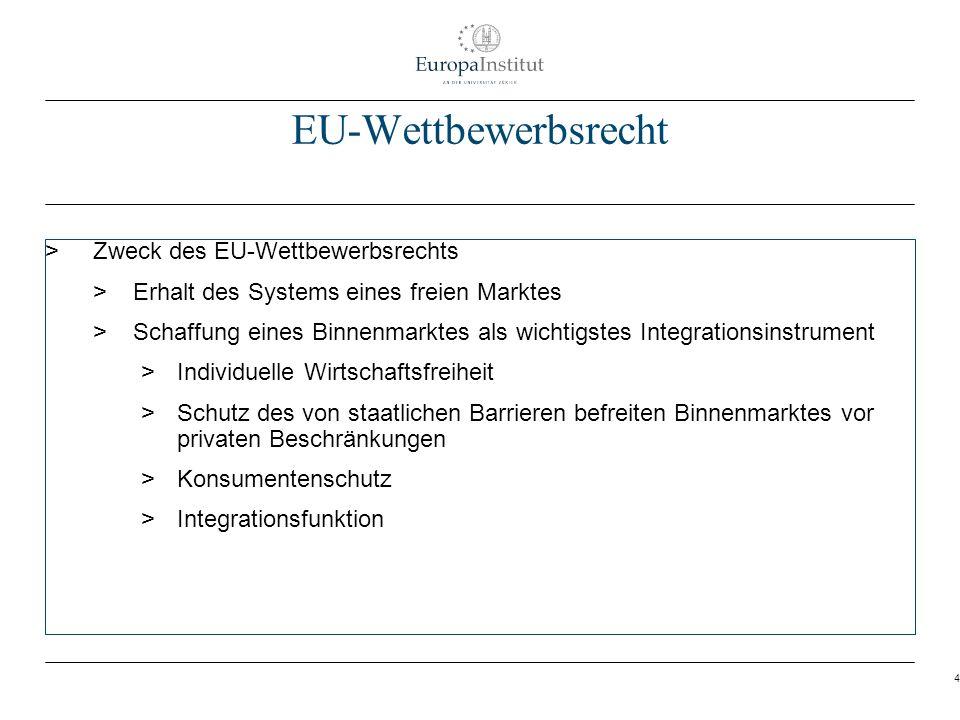 4 EU-Wettbewerbsrecht > Zweck des EU-Wettbewerbsrechts > Erhalt des Systems eines freien Marktes > Schaffung eines Binnenmarktes als wichtigstes Integ