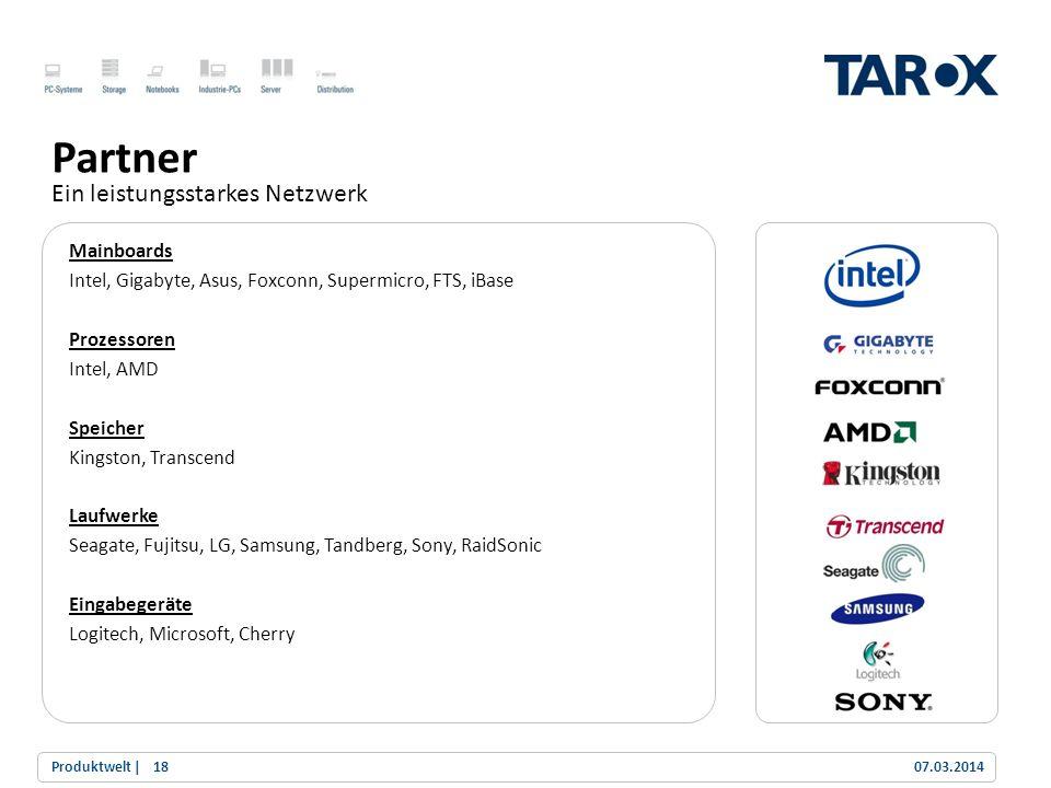 Trend Line Mainboards Intel, Gigabyte, Asus, Foxconn, Supermicro, FTS, iBase Prozessoren Intel, AMD Speicher Kingston, Transcend Laufwerke Seagate, Fu