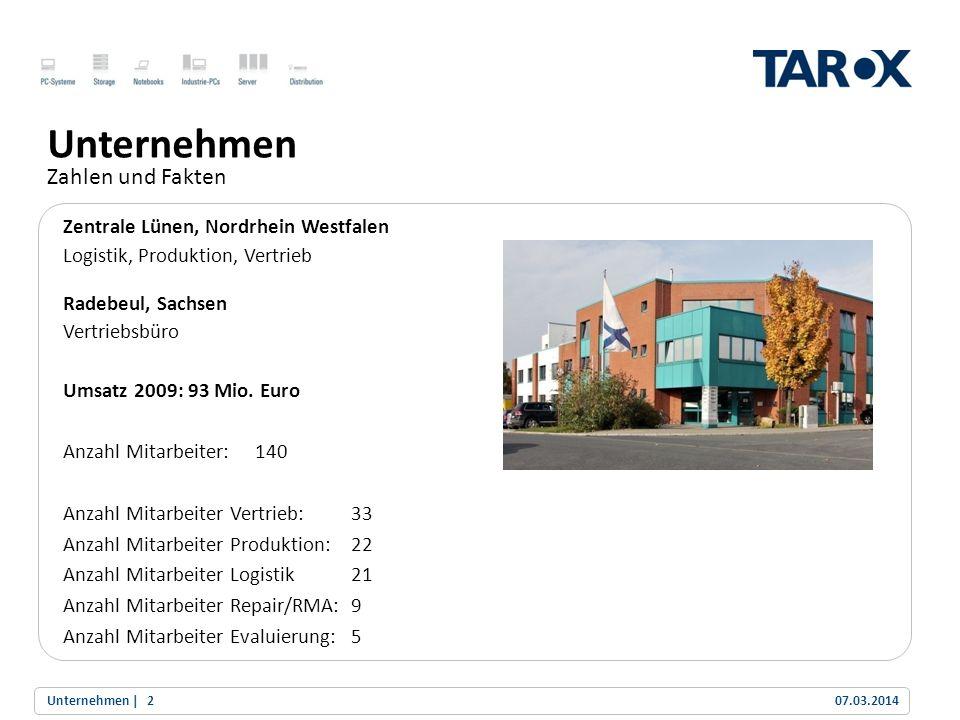 Trend Line TAROX Standard BTO Fertigung, Test und Versand innerhalb von 72 Stunden TAROX Fast BTO Fertigung, Test und Versand innerhalb von 24 Stunden TAROX BTS vorgefertigte Systeme sind ab Lager lieferbar Modernste Brand und Private-Label Produktion in der Einzel- und Serienfertigung Eigene Produkt-Evaluierung Preloadservice Reworking/Lohnfertigung Zweitverwertung und Entsorgung Produktion Flexibilität für alle Kundenanforderungen 07.03.2014Kompetenz |13