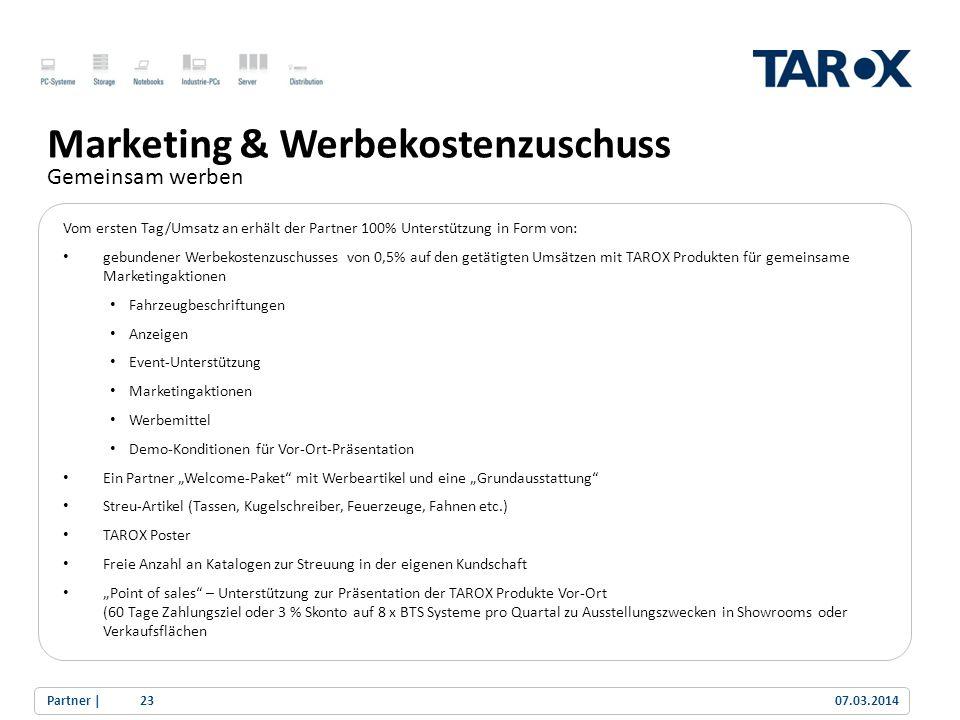 Trend Line Marketing & Werbekostenzuschuss Gemeinsam werben Vom ersten Tag/Umsatz an erhält der Partner 100% Unterstützung in Form von: gebundener Wer