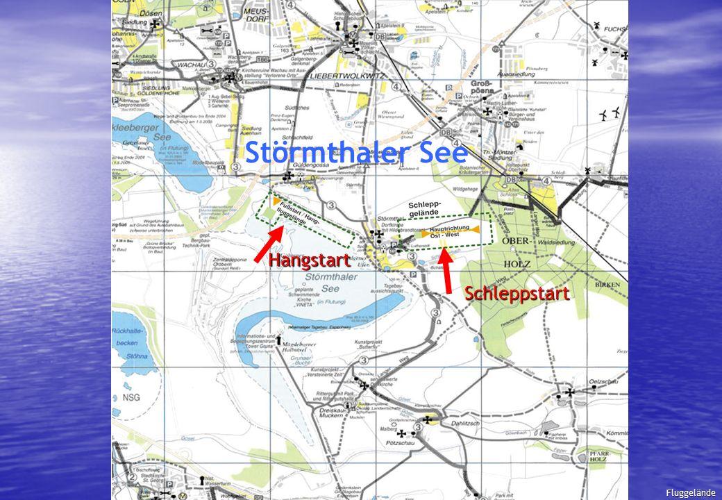 Fluggelände Hangstart Schleppstart Störmthaler See Fluggelände