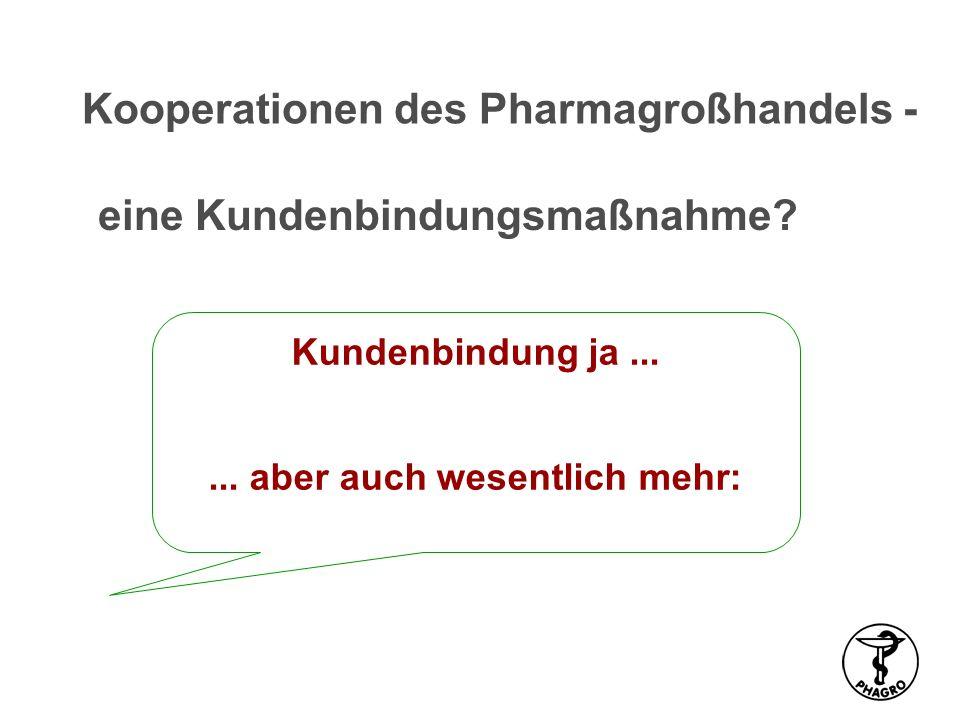 Kundenbindung ja...... aber auch wesentlich mehr: eine Kundenbindungsmaßnahme? Kooperationen des Pharmagroßhandels -