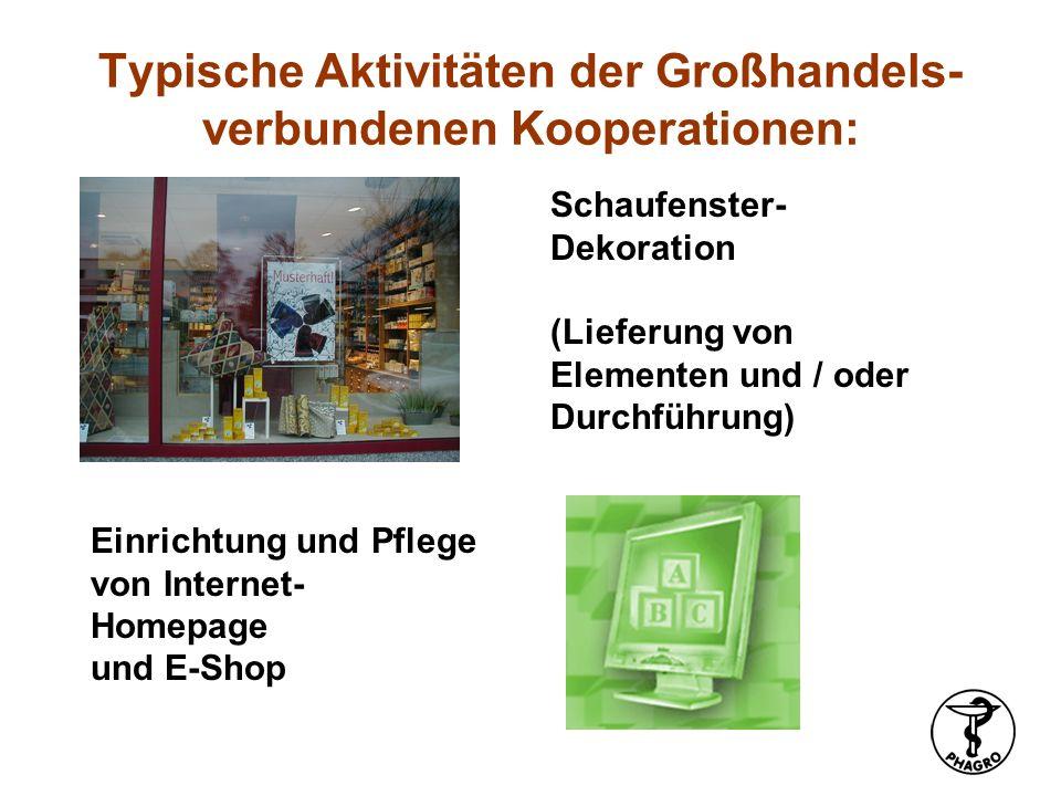 Kundenbindungs-Konzepte (Bonus- /Taler-Systeme etc.) Typische Aktivitäten der Großhandels- verbundenen Kooperationen: gemeinsame Angebotsblätter (Cave: Preisgestaltung!) gemeinsame Kundenzeitung