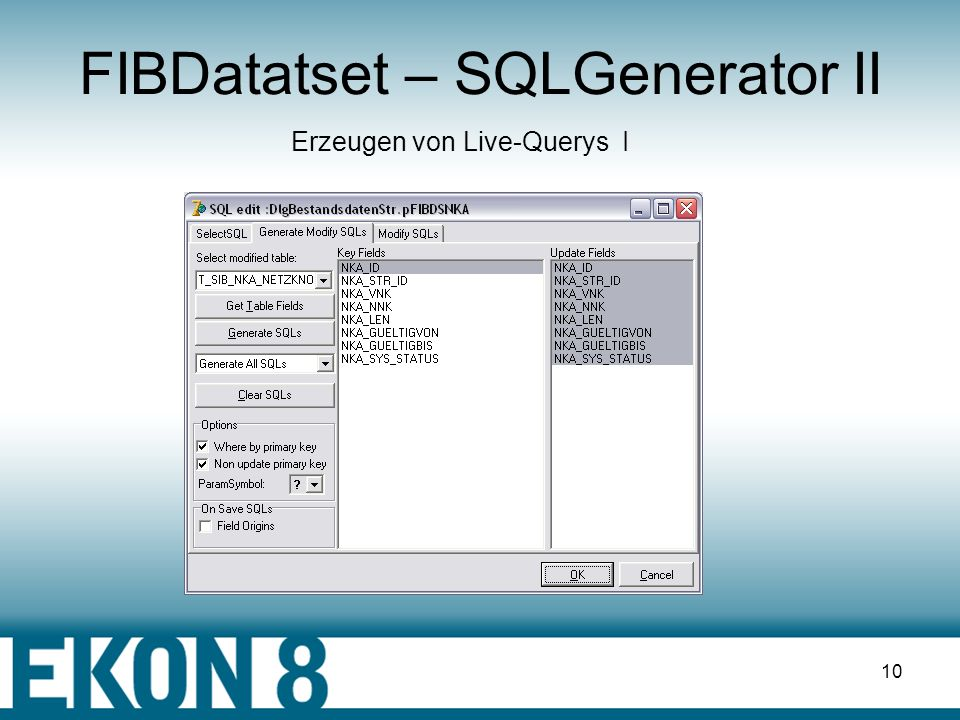 9 FIBDatatset – SQLGenerator I