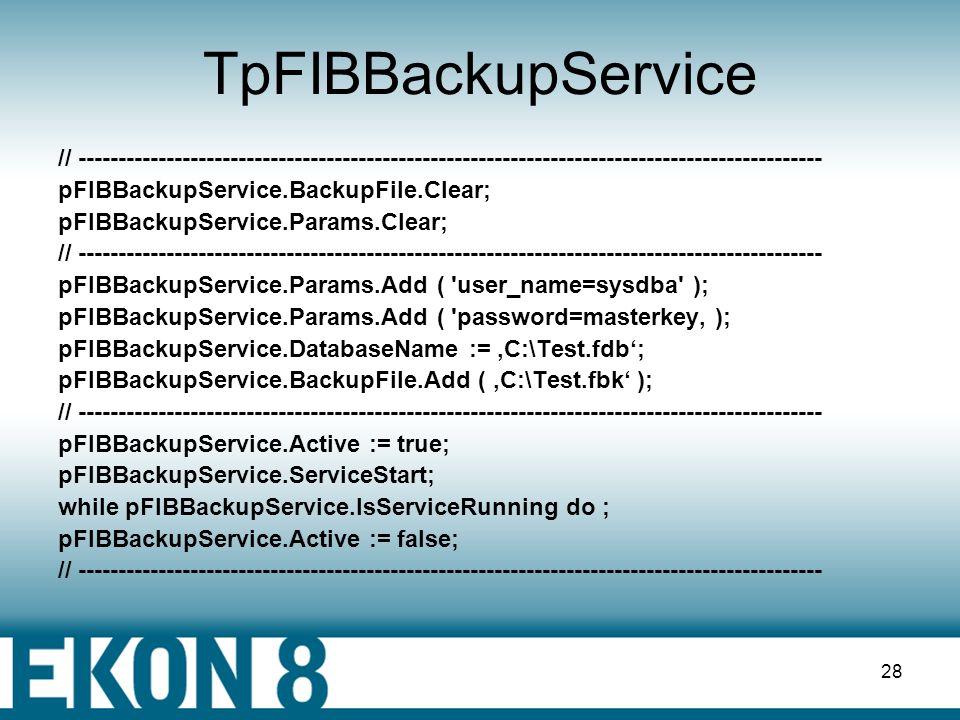 27 Nutzerverwaltung - TpFIBSecurityService Bsp.