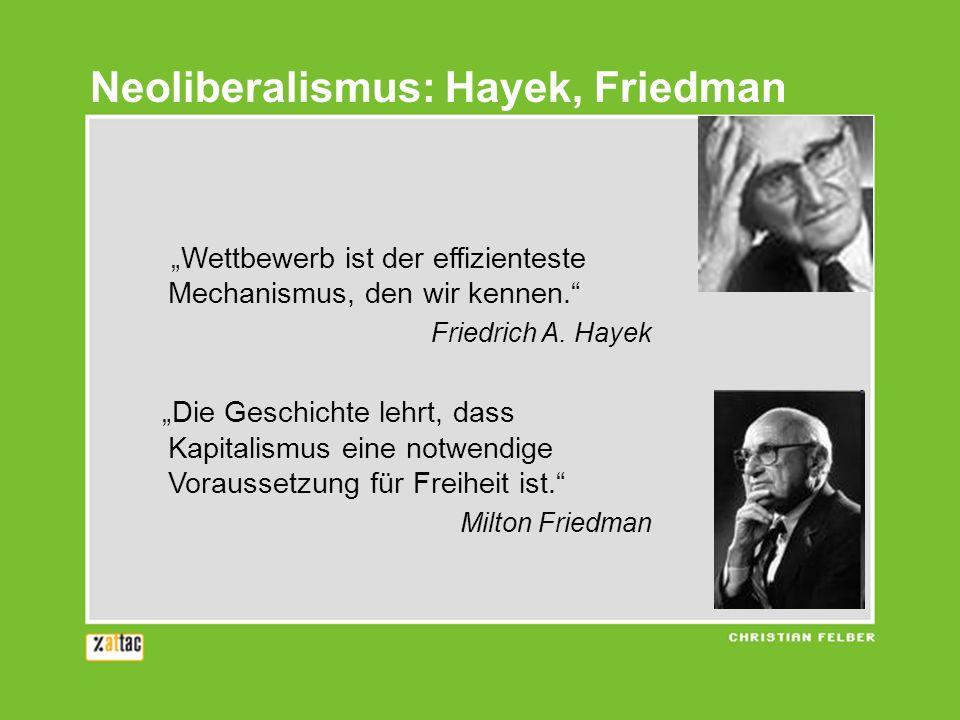 Wettbewerb ist der effizienteste Mechanismus, den wir kennen. Friedrich A. Hayek Die Geschichte lehrt, dass Kapitalismus eine notwendige Voraussetzung