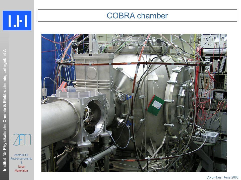 Institut für Physikalische Chemie & Elektrochemie, Lehrgebiet A Columbus, June 2008.ppt Zentrum für Festkörperchemie & Neue Materialien COBRA chamber