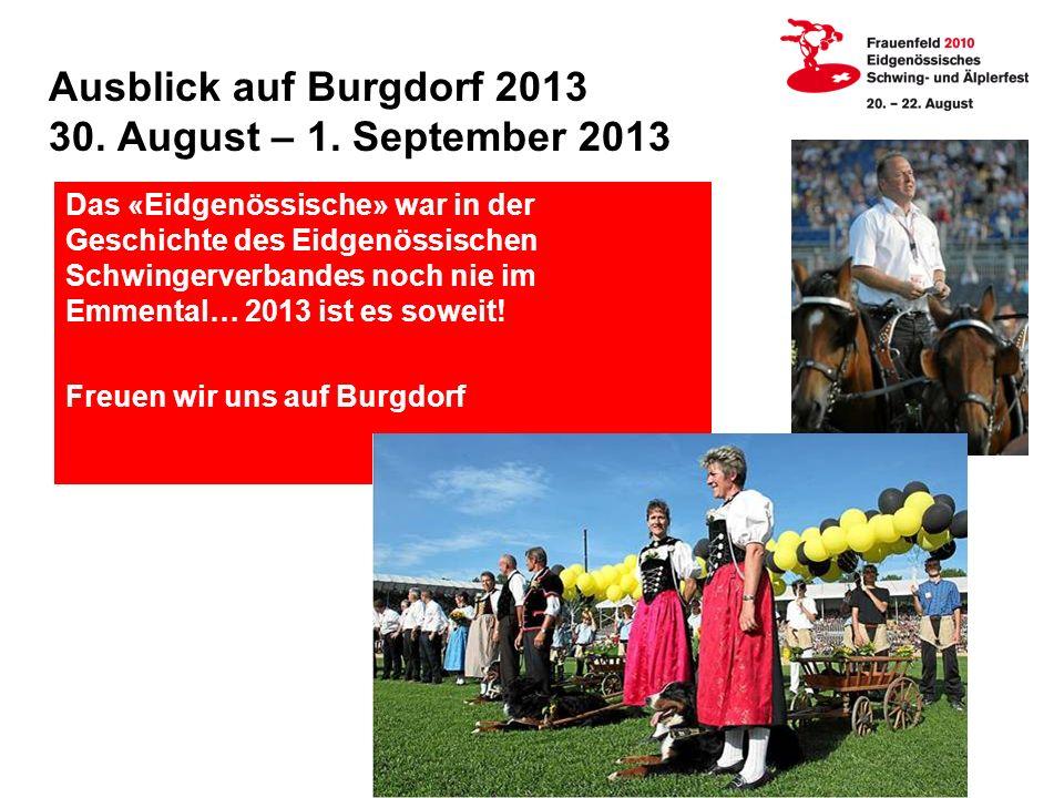 Ausblick auf Burgdorf 2013 30.August – 1.